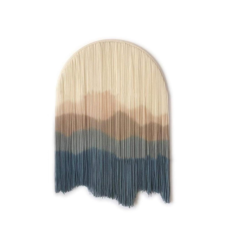 ヒント中毒拡大するタペストリー - コットンタペストリー半円形タペストリー手織りタペストリー壁装飾画