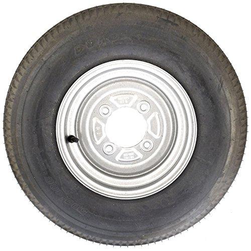 leisure MART Une Paire de 1/016/x 20,3/cm Remorque Roues et pneus avec 4/Plis Pneu et 10,2/cm PCD 4.00/X 8/PT No Lmx1596