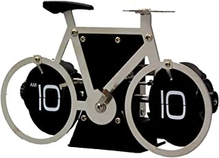 HXZB Modèle Vélo Vintage Numérique Auto Flip Down Horloge Vélo, À Pile Bureau en Acier Inoxydable Horloge pour La Maison E...