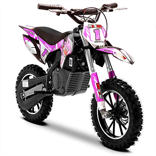 Funbikes MXR 500w Lithium Pink Kids Elektro Dirt Bike - Mini Motorrad Scrambler, Rose, Unspecified
