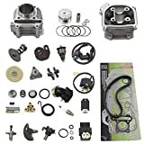 GY6 Cylinder Rebuild Kits Trkimal 47mm 80cc Big Bore Upgrade Kits for 49cc 50cc 139QMB Engines 64mm Valve scooter moped parts, GY6 Engine parts for Chinese Scooter(64mm Valve Length)