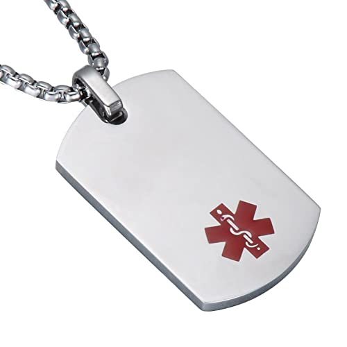 Medical Alert Necklace for Men: Amazon co uk
