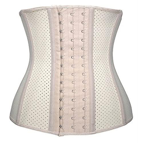 LIUJIU Body de tanga para mujer con control de barriga, busto abierto, moldeador, talla L