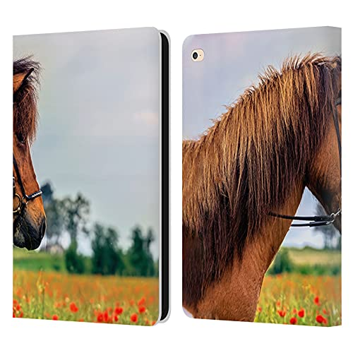 Head Case Designs Officially Licensed Simone Gatterwe Horse Poppyfield Leather Book Wallet Case Cover Compatible With Apple iPad Air 2 (2014)