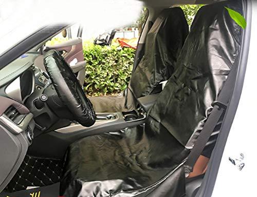 Mayco Bell staubdicht wasserdicht Schutzüberzüge für Autositzbezug und Lenkradbezug Pu-Leder für alle Autos zum Reparieren und Waschen (Schwarz)