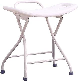 TUHFG Shower Stool Bath Seats Shower Bench&Stool Shower Stool Bench White Multi Purpose Stool Non-Slip Folding Perfect for...
