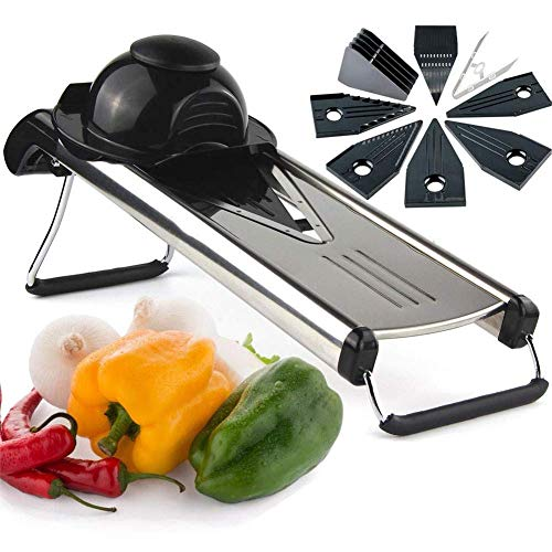 WYZXR Mandoline Slicer, Adjustable Vegetable Cutter, Best for Slicing Onions, Potatoes, Tomatoes, Fruit and Vegetables.