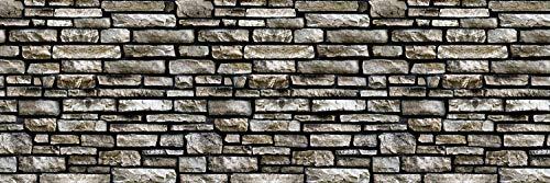 Queence | Küchen Spritzschutz \'Steinwand\' | Küchenrückwand | HiTech-Vinyl | Fliesenschutz für den Herd | Küche | Küchenfliesen | Fliesenspiegel | Rückwand, Größe:120x40 cm