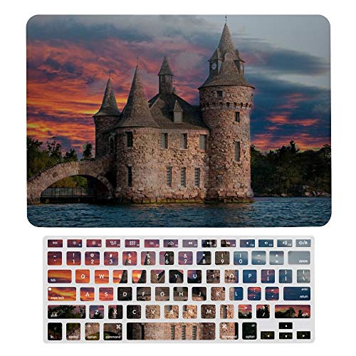 MacBook Pro 13 inch Case 2020 2019 2018 2017 Release A2159 A1989 A1706, Plastic Hard Shell Case&Screen Protector with Keyboard Cover, Amazing Castle