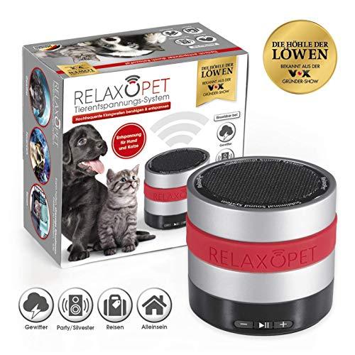RelaxoPet Tierentspannungs-Trainer ECO | Version für Hund & Katze | Beruhigung durch Klangwellen | Ideal bei Gewitter, Feuerwerk oder auf Reisen | Hörbar und unhörbar | 5V, kabellos