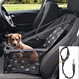 GoBuyer Waterproof Dog Car Seat Booster Carrier Car Booster Seat for Dogs with Headrest Strap