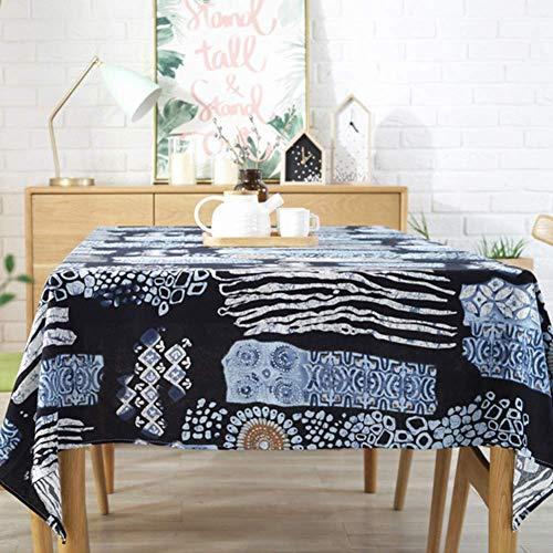 JLYZB Vintage Bodhi Print Tafelkleed Klassiek Katoen Linnen Stof Westerse Tafelhoes Stofdoek Tafelblad Decoratie Tafellinnen - een 30x200cm(12x79inch)