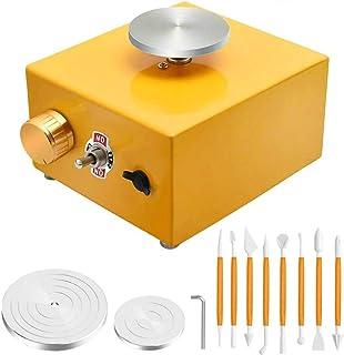 S SMAUTOP Machine à céramique en argile Mini roue de poterie 2000 tr/min Roue de poterie électrique DIY argile Outil avec ...