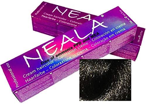 Professionele kleuring haarkleur zonder ammoniak en vrij van PPD en MEA - 4.1- MEDIUM BRUIN AS - NEALA 100 ml.