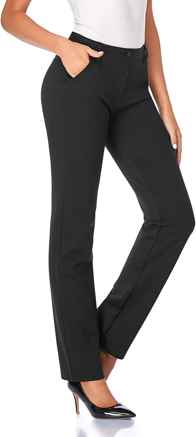 Tapata Women's 28''/30''/32''/34'' Stretchy Straight Dress Pants with Pockets Tall, Petite, Regular for Office Work Business