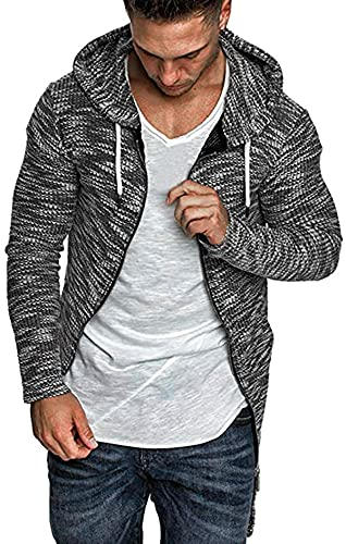 Jackets for Men Splicing Long Sleeve Solid Hooded Trench Coat Cardigan Outwear Blouse