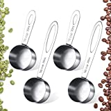 Best Coffee Scoops - 4 Pieces Coffee Scoop 2 Tablespoon Stainless Steel Review