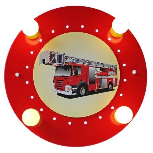 EEC A+, Elobra Plafonnier camion de pompier 4/20 - Bois ampoules