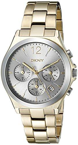 DKNY (DNKY5) NY2452 - Orologio al quarzo da donna con display analogico nero e cinturino in acciaio inossidabile dorato