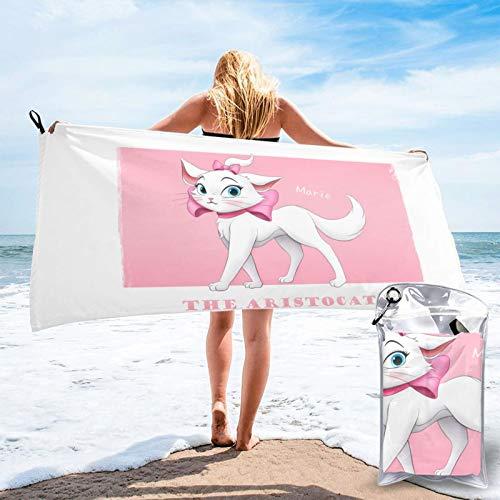 Aristo-Cats Ma-Rie Mikrofaser-Handtücher, schnelltrocknend, saugfähig, leicht, tragbar, Badetuch für Camping, Sport, Reisen, Fitness, 60 x 140 cm