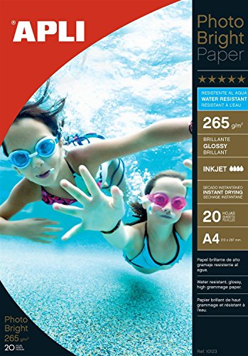 Papel Fotografico Photo Bright Din A4 Water Resistant 265gr 20 Hojas