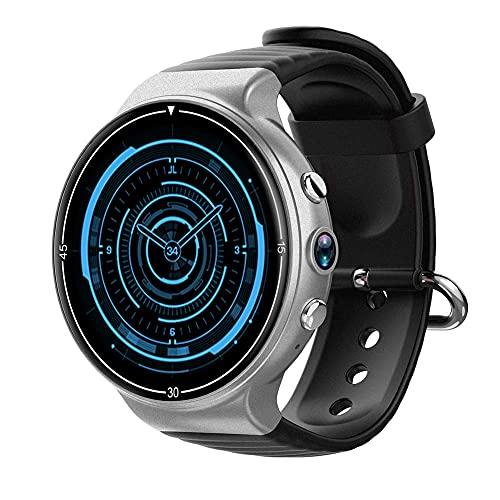 Smart Watch 1.39'AMOLED Pantalla TOTA Soporte 4G Wi-Fi GPS Android 7.0 RAM 1G ROM 16G SmartWatch con podómetro Cámara Reproductor de música Adecuado para Hombres y Mujeres