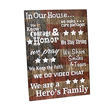 MILITARY LIFE Patriotic Hero's Family Word Art Wooden Sign Wall Decor Army Navy
