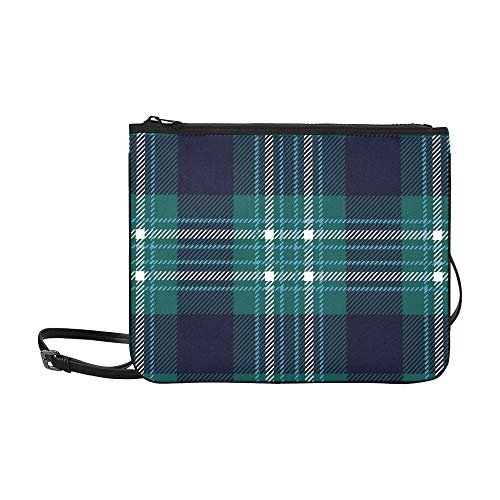 WYYWCY Tartan tradicional Escocés a cuadros de alta calidad a medida de alta calidad delgado bolso de embrague bolso cruzado cuerpo bolsa de hombro