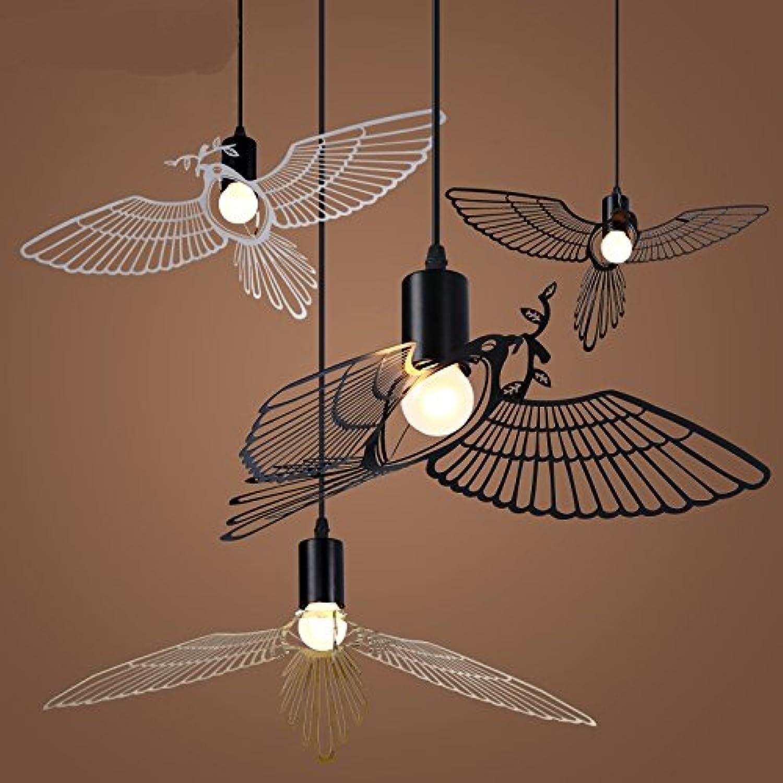 Minimalistisches Esszimmer Pendelleuchten Amerikanische kreative Persnlichkeit Kinder lernen Flying Bird Anhnger ZA ET25LO8 ( Farbe   schwarz , Größe   L30CM )