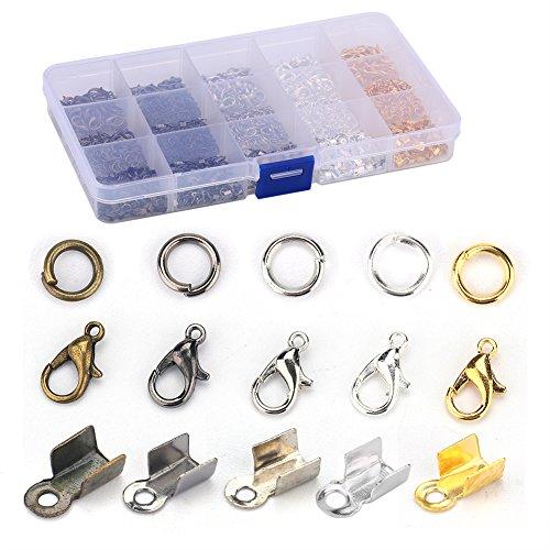 Kit para hacer joyas, collares y pulseras con cierre de mosquetón