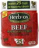 Herbox Bouillon Cubes Beef 25 cubes, 3.2500-ounces (Pack of6)