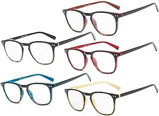 Eyekepper Reading Glasses 5 Pack Mixed Color Vintage Readers Men Women +2.75