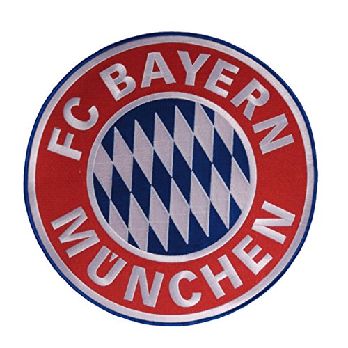 FCB FC Bayern München Aufnäher/Patch Logo klein Plus gratis Aufkleber Forever München