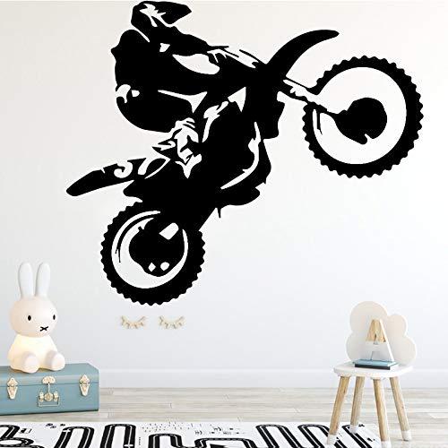 Etiqueta de la pared del conductor del truco de la motocicleta para el papel pintado del dormitorio de los niños decoración de la habitación de los niños etiqueta de la pared motocros pared