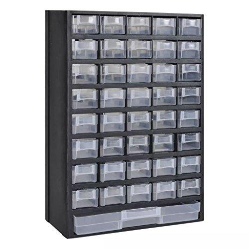 cangzhoushopping 41 Fächer Plastik Sortimentsschrank Heimwerkerbedarf Bauzubehör Werkzeugaufbewahrung Ordnungssysteme Werkzeugschränke