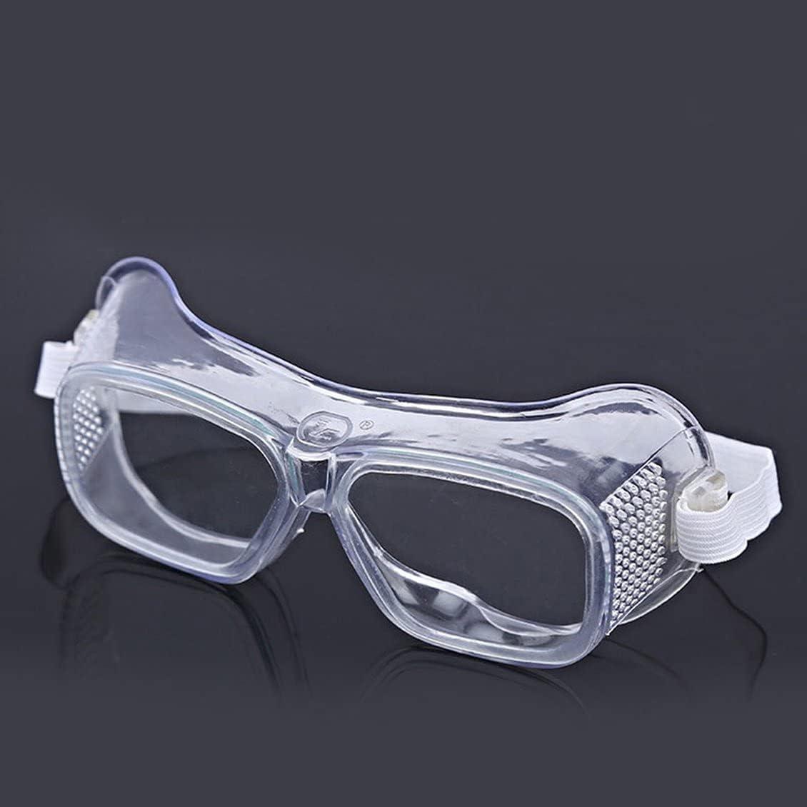 healthwen Gafas de Seguridad Protección Ocular de Laboratorio Gafas Protectoras médicas Lentes Transparentes Gafas de Seguridad en el Lugar de Trabajo Suministros Antipolvo