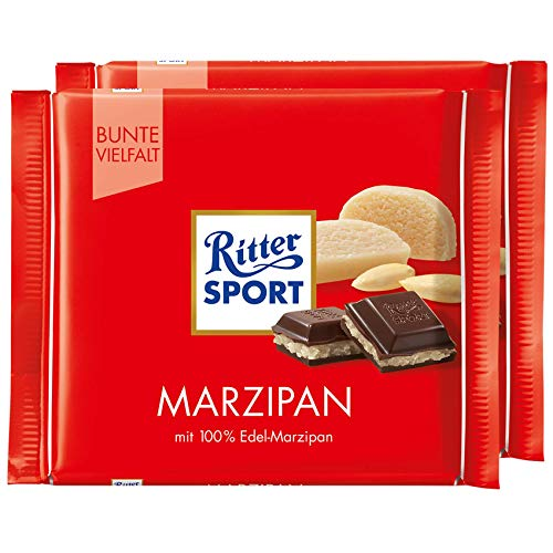 Ritter Sport Marzipan Dark Chocolate Bar Candy Original German Chocolate 100g/3.52oz (Pack of 2)