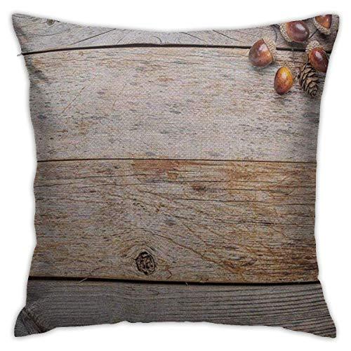 baoan Kissenbezüge 18x18 Zoll, quadratische dekorative Kissenbezüge für Sofa Schlafzimmer Auto Rustikale Eicheln und Zapfen