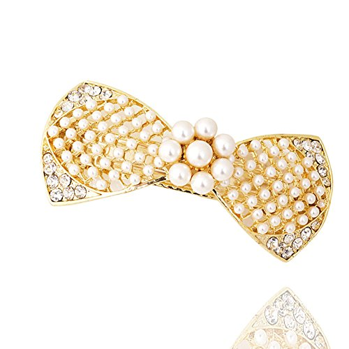 Korea Pearl Butterfly first clip Diamond Card top clip headgear Spring clip the girls ' hair accessories jewelry-A