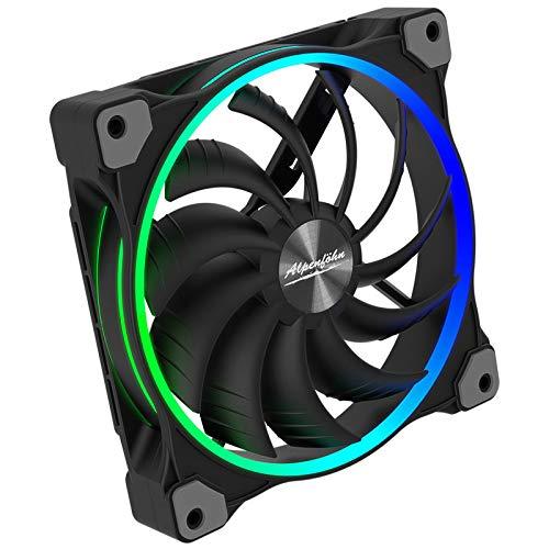 Alpenföhn - Wing Boost 3 ARGB mit 140mm mit 1 PWM Lüftern Gehäusekühler, CPU Kühler aben einen Maximalen 1500RPM Lüfter Kompatiblen Kühler Innenraum PC Gehäuse