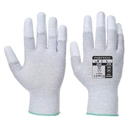 Portwest A198Antistatische Pu-Handschuh der Finger, A198GRRM