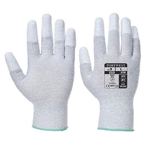 Portwest A198Antistatische Pu-Handschuh der Finger, A198GRRS