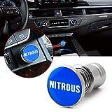 Xotic Tech Car Cigarette Lighter Replacement, Nitrous Button 12V Accessory Push Button Fits Most Automotive Vehicles (Blue)
