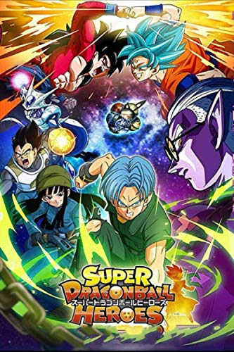 Super Dragon Ball Heroes: Lined Journal, Unique For Teenage Girls Boys Adults, Anime Lovers , Perfect For Notes, Creative Ideas, Diary, To Do Lists ... - Writing Journal |6x9 - 100 Pages|