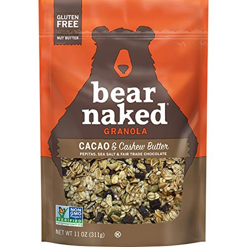 Bear Naked, Granola, Cacao and Cashew Butter, Vegan and Gluten Free, 11oz Bag