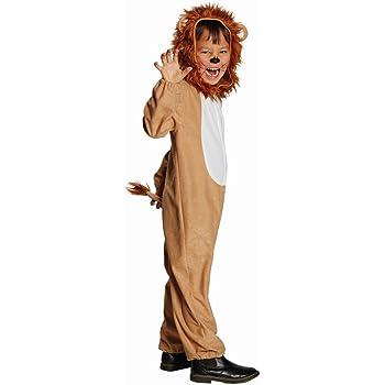 Kinder Kostüm Löwe Teo Größe 116, Overall braun Fasching Karneval Theater Raubtier Katze (116)