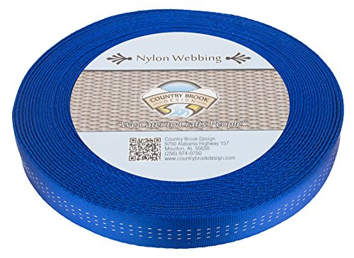 Country Brook Design 1 Inch Royal Blue Climbing Spec Tubular Nylon Webbing, 1.