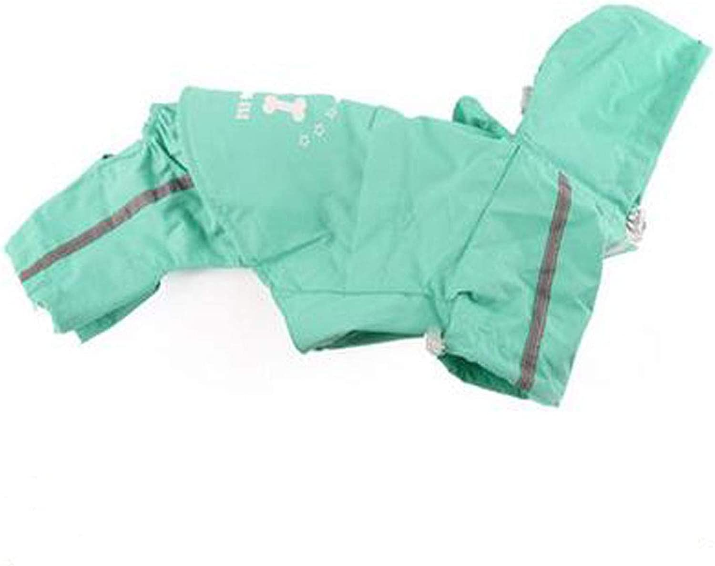 Jinnuotong Dog Raincoat, Large, Medium Dog Waterproof Suit Pretty (color   Pink, Size   XXXL)