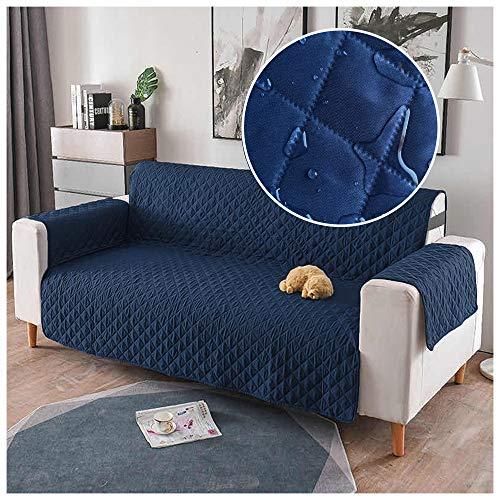 Dido´s Funda de sofá Impermeable, Fundas antipelos Mascotas para Perro.Funda de sofá 2 plazas.Protector de Sofa. Cubre sofá Antideslizante para Perros (Azul, 116 X 188 cm 2 PLAZAS)