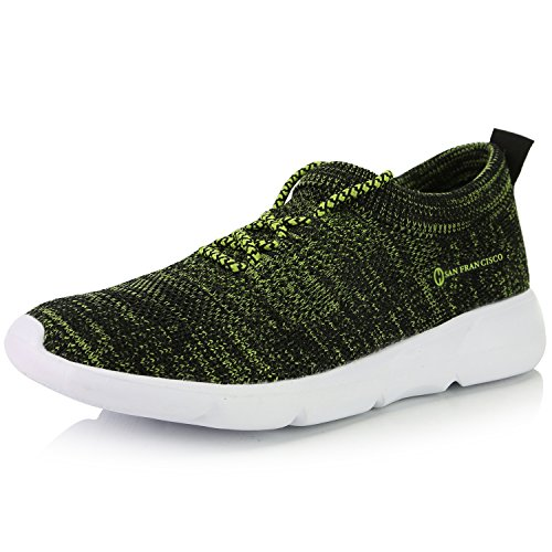 DailyShoes Women's Sneakers Running Shoes Walking Cross Training Perforated Lightweight Popular Lovely Fashion High Classic Casual Flat Black,Lime,mesh,5